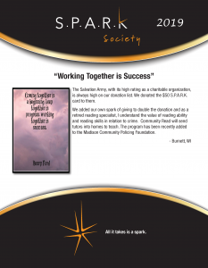 SPARK Story Working Together is Success